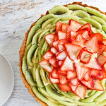Strawberry and Kiwi Fruit Tart (with Pastry Cream) 法式草莓奇异果挞