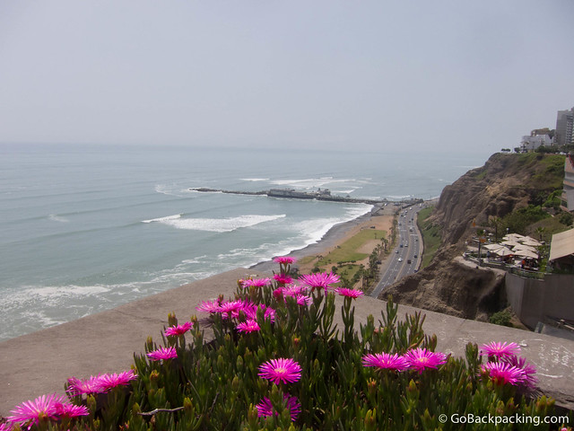 Every day, paragliders can be seen flying over Lima's coastline