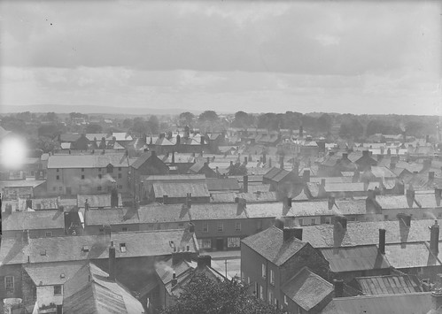 1920s ireland streets smoke roofs eason chimneys 1920 roofscape glassnegative offaly twenties tullamore nationallibraryofireland easonson easoncollection