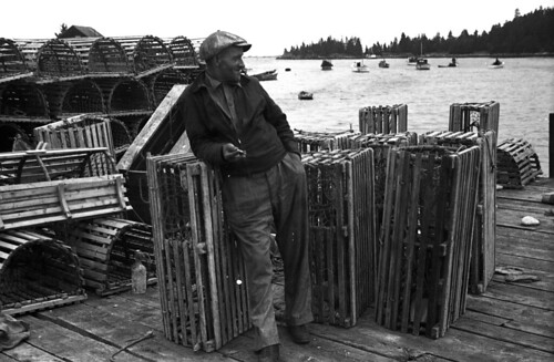 Lobster fisherman in Vinalhaven, Maine, 1936