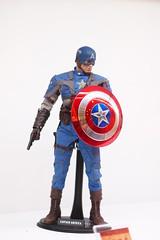 superhero, captain america, action figure, toy,