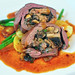 Small photo of Roulade of goose with mushroom and foie gras