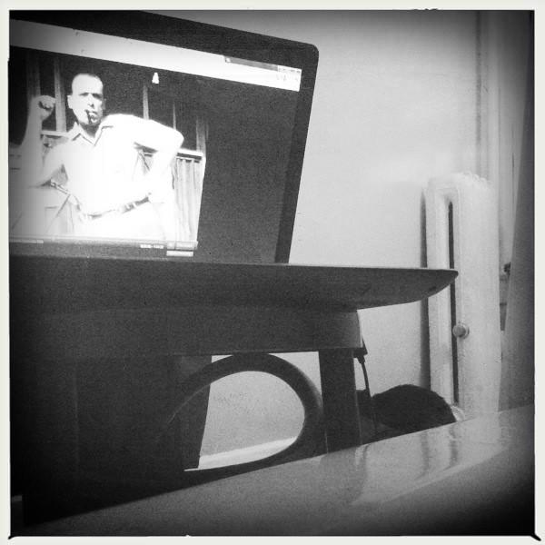 watching Bukowski from the tub
