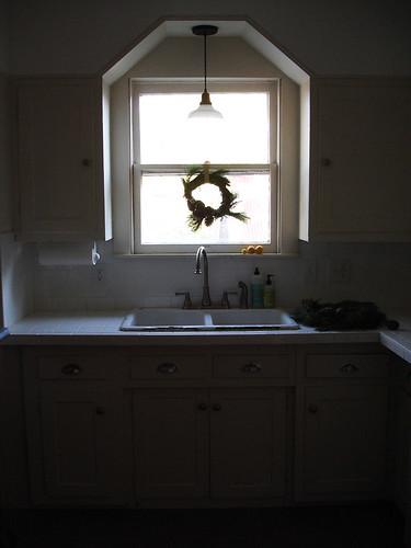 above sink
