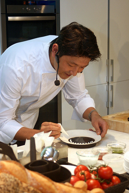 Chef Tomonori Danzaki of Joel Robuchon Restaurant