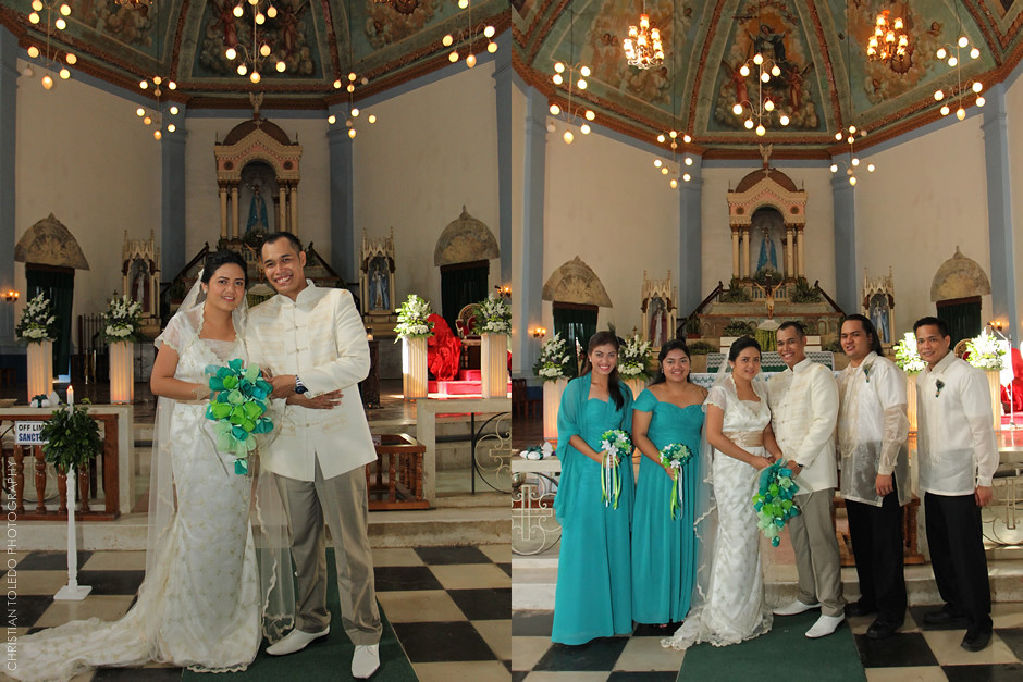 Church of Our Lady of the Assumption in Dauis, Bohol Wedding Photographer