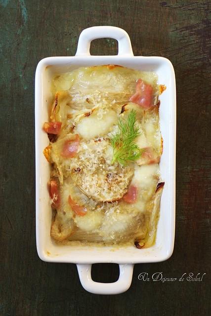 Fennel and mozzarella gratin