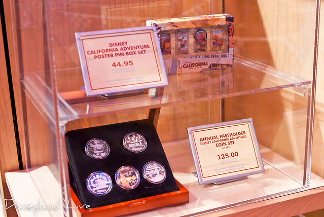 Cars Land / Buena Vista Street AP Merchandise Showcase - Pins and Coins