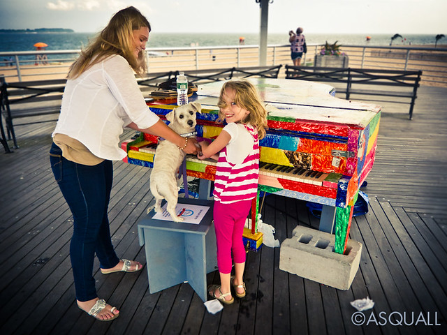 Mom, Daughter and Dog