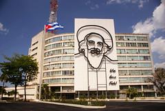 Revolution Square Camilo building | Camilo en edificio en Plaza de la Revolución, La Habana