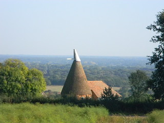 Oast with view
