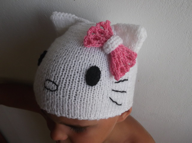 Knited Baby Hat Hello Kitty Crochet pattern craft ...