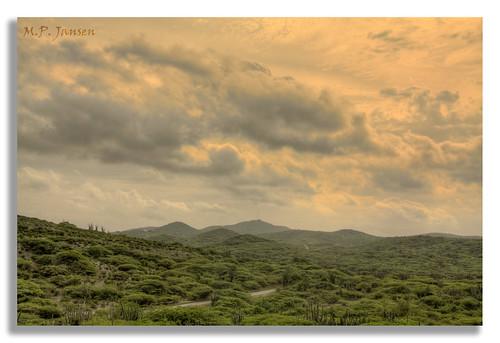 sunrise landscape countryside aruba hdr balashi