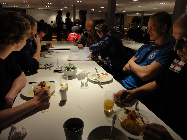 Dinner table at the Stockholm 2011 World Cup