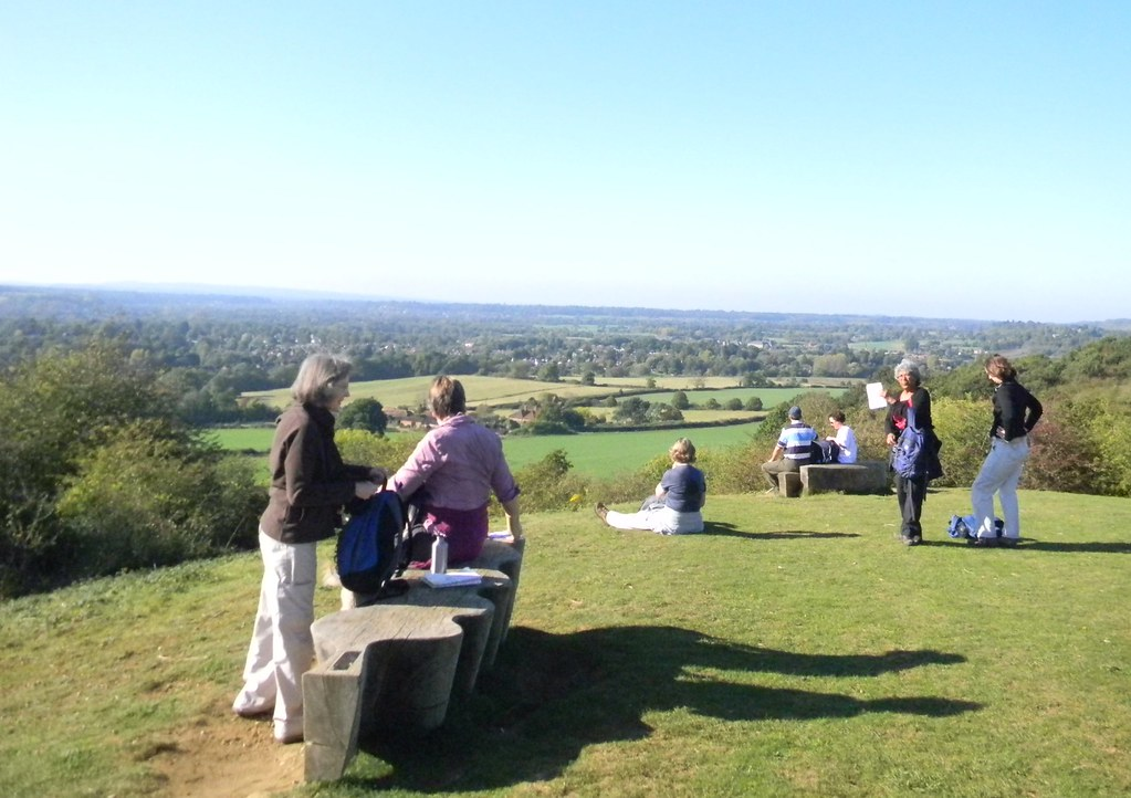 View from Chantries Hill Guildford to Horsley