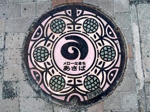 Asaba Shizuoka manhole cover(静岡県浅羽町のマンホール)