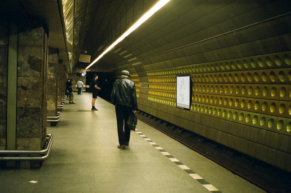 Praha. Mustek station