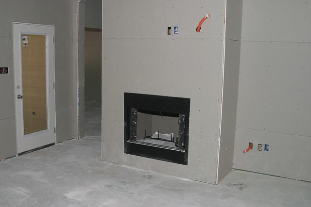 Drywall Gas Start Wood Burning Fireplace Flickr Photo Sharing