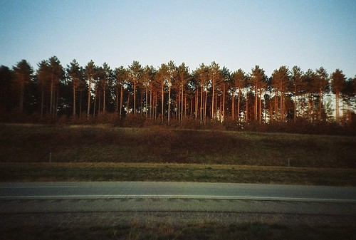 autumn trees sunset fall film analog 35mm landscape evening october highway lomolca goldenhour 2011 highway29 eauclairewisconsin kodakmax800gt