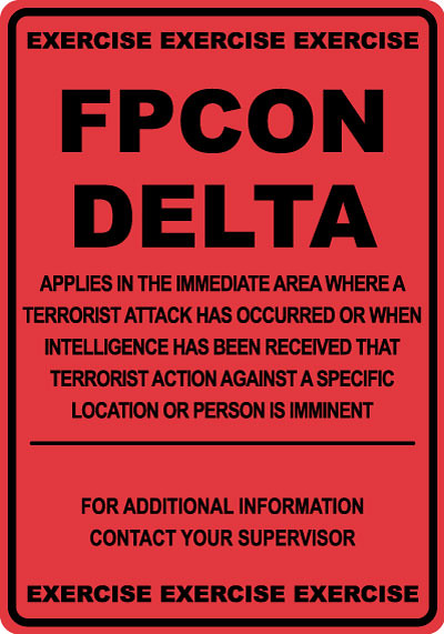 Fpcon Delta Exercise Military Stonehouse Signs Offers