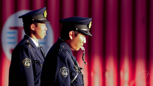 Traffic control police