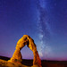 "Delicate Arch and Milky Way stars by IronRodArt - Royce Bair (""Star Shooter"")"