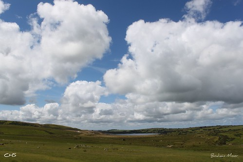 Bodmin Moor, looking towards Stannon China Clay works by Stocker Images