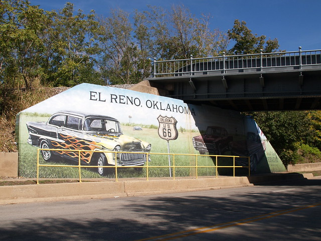 el reno ok oklahoma route 66 old historic town on the