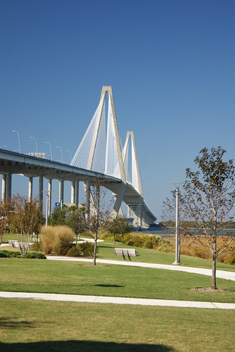 US2011 155 Ravenel Bridge from Mount Pleasant Visitor Center