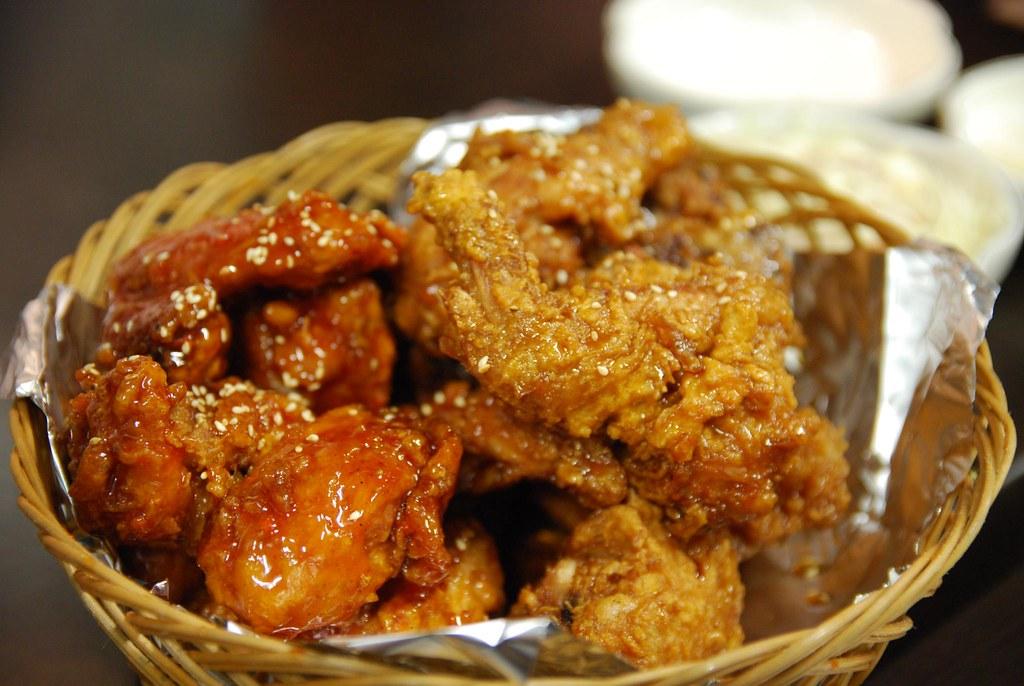 Half Yangyum Chicken, Half Ganjang Chicken - Hudadak AUD30