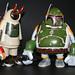 Custom Boba Fett's by Okedoki, Grimsheep, Phu and JC Rivera by vinyltoyz