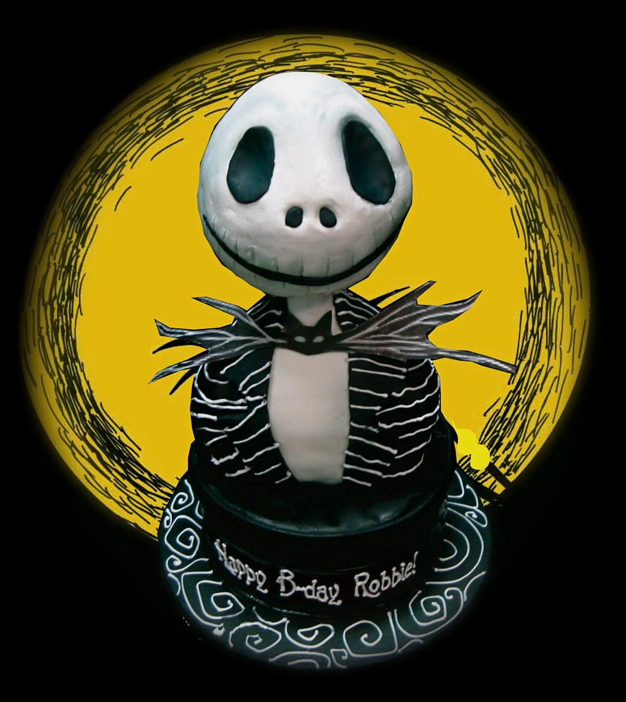 Nightmare Before Christmas Cake Backdrop For Photo Purpose