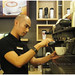 Blenz Coffee - Barista preparing coffee