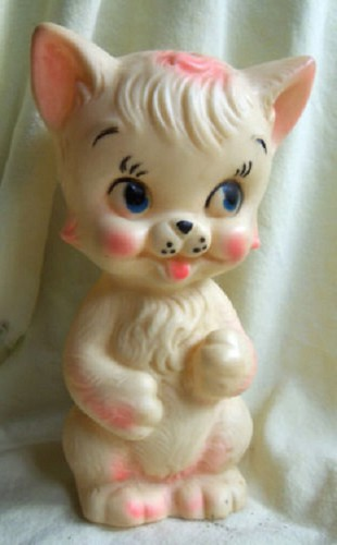Vintage 1950's Kitten Squeeze Toy by socal72girl