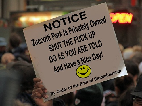 ZUCCOTTI PARK SIGN by Colonel Flick