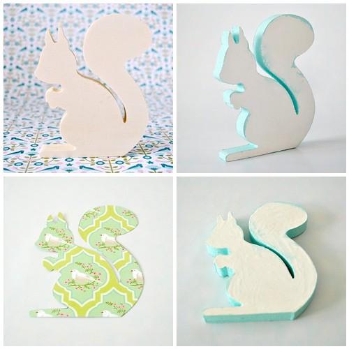Sparkly print Squirrel - steps 1- 4