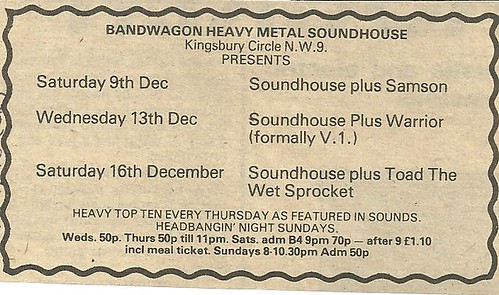 12-09-78 Soundhouse-Samson @ London, Eng.