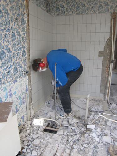 Onno demolished the bathroom......