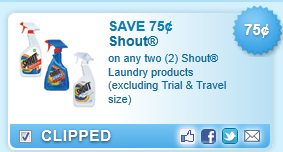 Shout Laundry Products Coupon