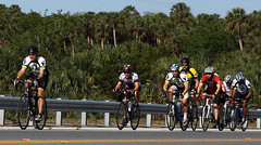 Tour de Cure - Eastside Cycling Club on Rt-46 Bridge over Lake Jessup