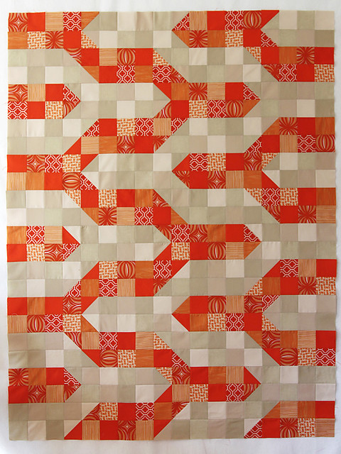 The completed patchwork quilt top