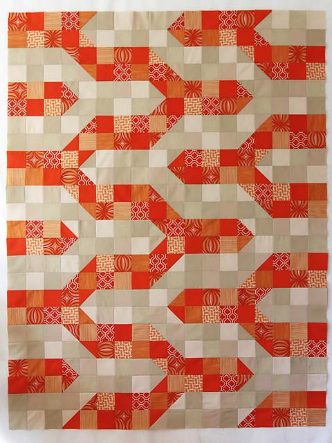 Bonjour Quilts: Tutorial: Modern Chevron Baby Quilt (Crib ...