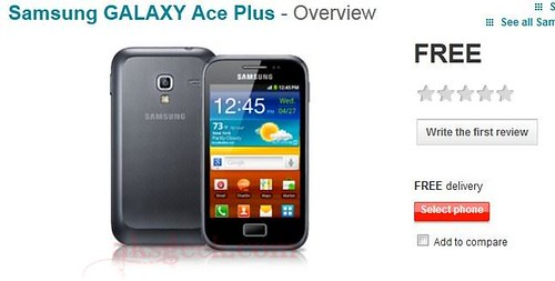 Samsung galaxy ace plus on vodafone