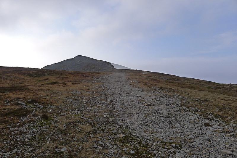 Final slope to Carn a' Chlamain summit