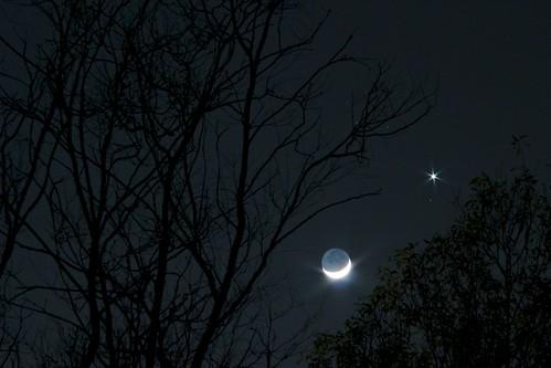 Una giovane Luna avvicina Venere al tramonto 2