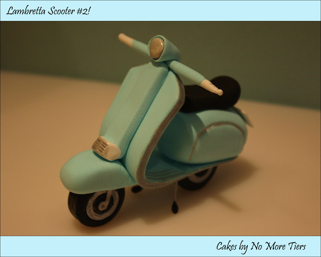 Lambretta Scooter Cake Topper Flickr Photo Sharing