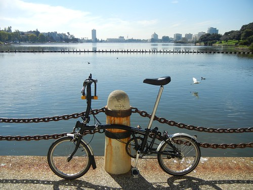 Biking around Lake Merrit