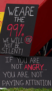 Sign: We are the 99%, We will not be SILENT!