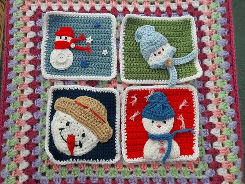 Luna (USA) Your Snowman Squares have arrived! Thank you!
