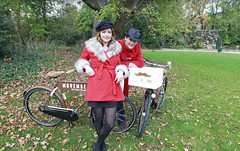 Movember photocall bear bicycles